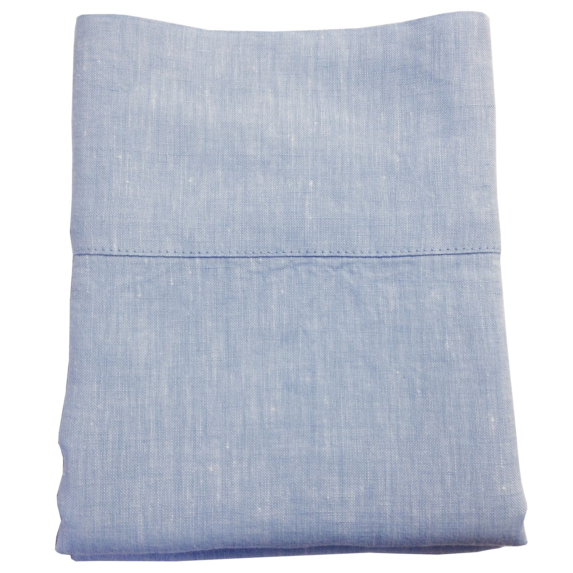 Linen Pillowcase Size: Standard/Queen, Color: Pale Blue