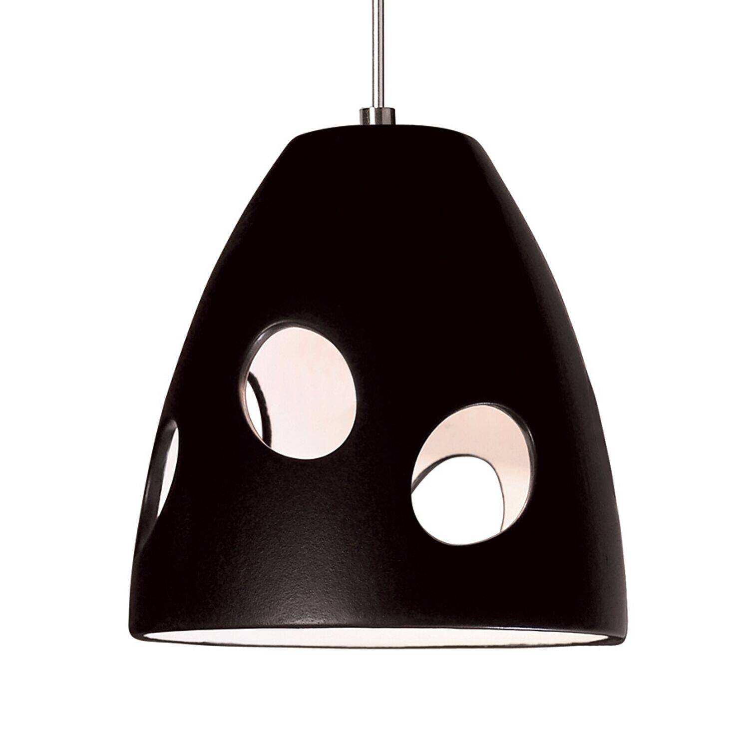 Milano 1-Light Cone Pendant Finish: Matte Black, Canopy and Transformer: With