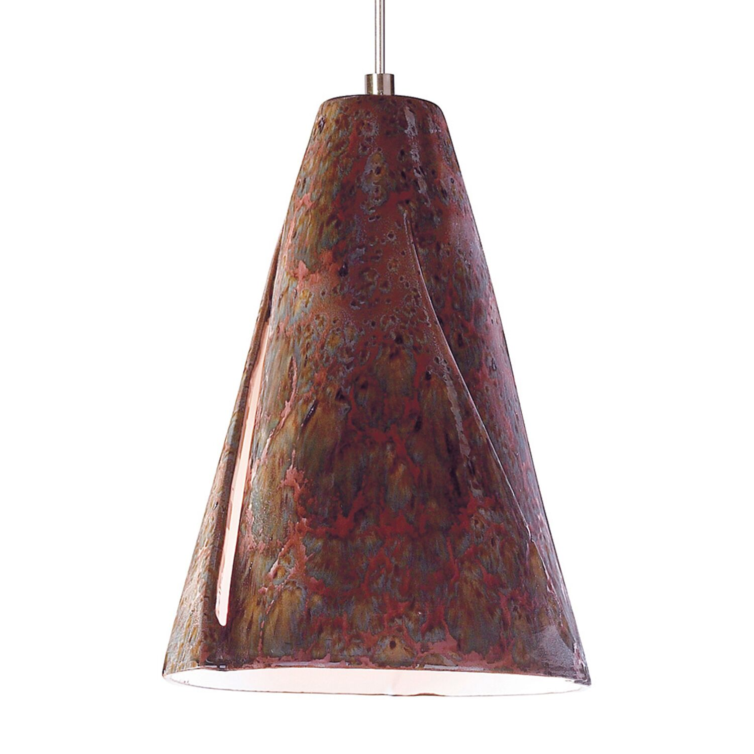 Whirl 1-Light Cone Pendant Finish: Rainforest, Canopy and Transformer: With