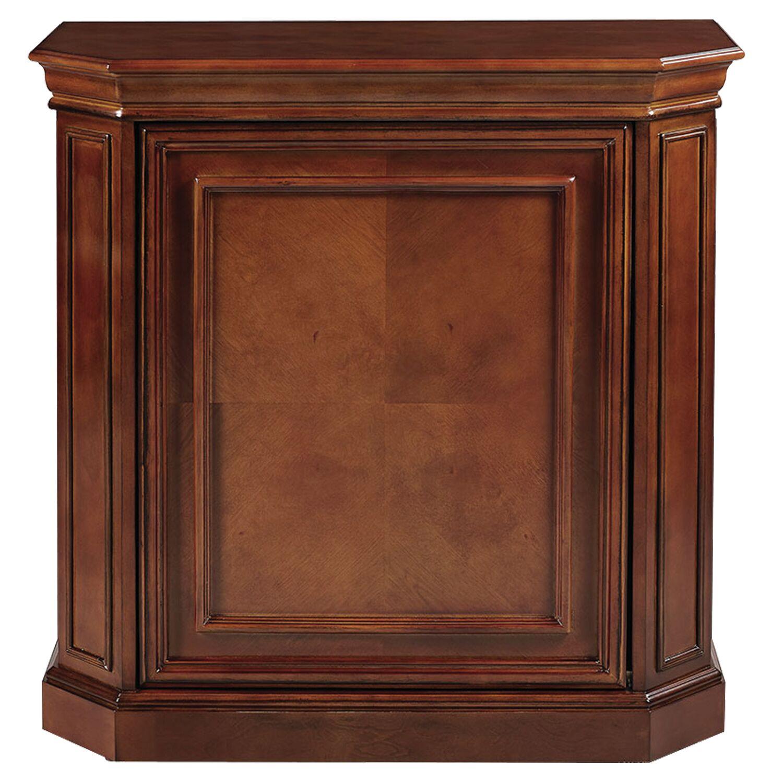Bard Bar Cabinet with Spindle Color: Chestnut