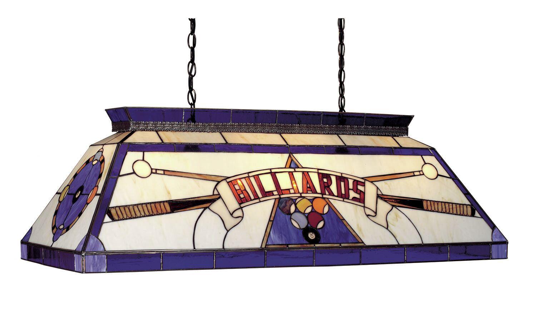Tiffany 4-Light Billiard Light Finish: Blue