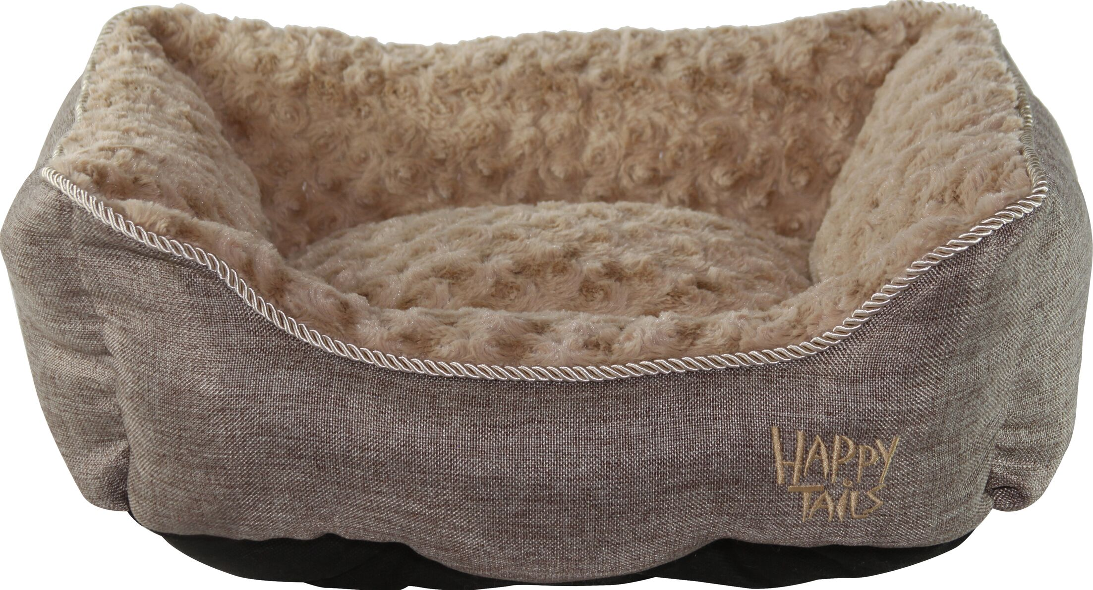 Luxurious Faux Linen Dog Cuddler Color: Chocolate Brown