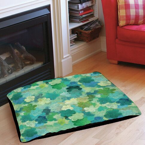 Aqua Bloom Water Blends Pet Bed Size: 40