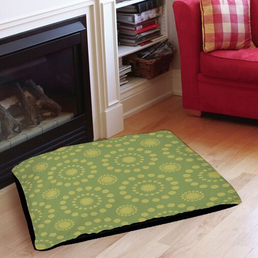Tropical Breeze Patterns Indoor/Outdoor Pet Bed Color: Green, Size: 50