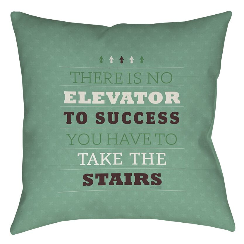 Take the Stairs Indoor/Outdoor Throw Pillow Size: 18
