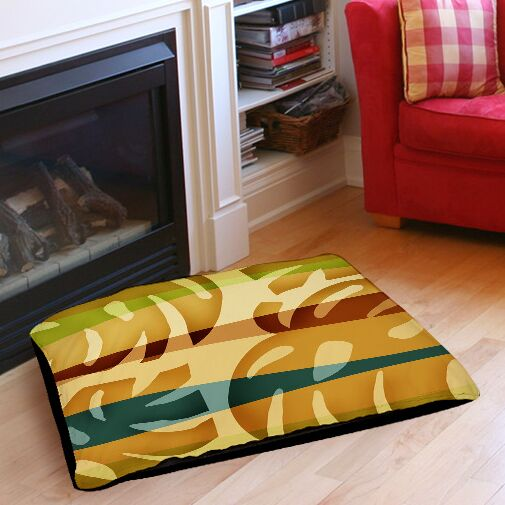 Tropical Leaf 1 Indoor/Outdoor Pet Bed Size: 40