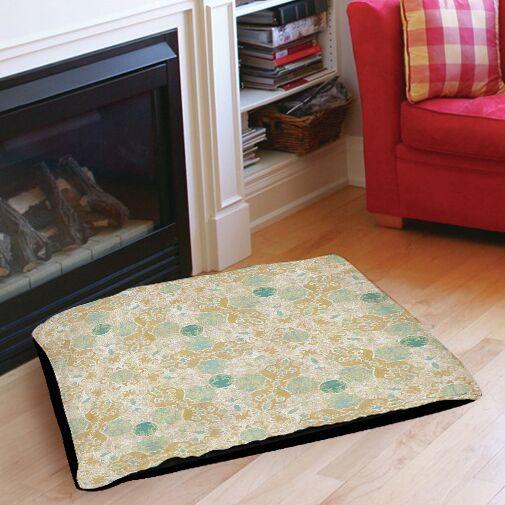 Tea House Patterns 12 Indoor/Outdoor Pet Bed Size: 28