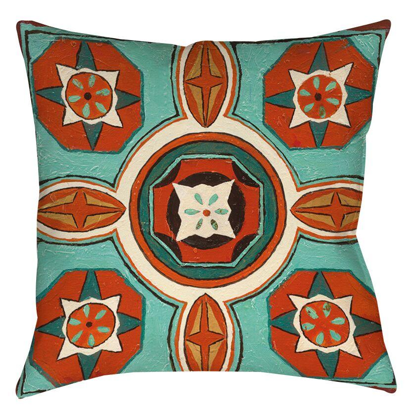 Laila 4 Printed Throw Pillow Size: 18