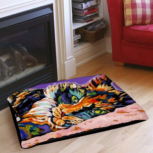 Calico Dreams Indoor/Outdoor Pet Bed Size: 50