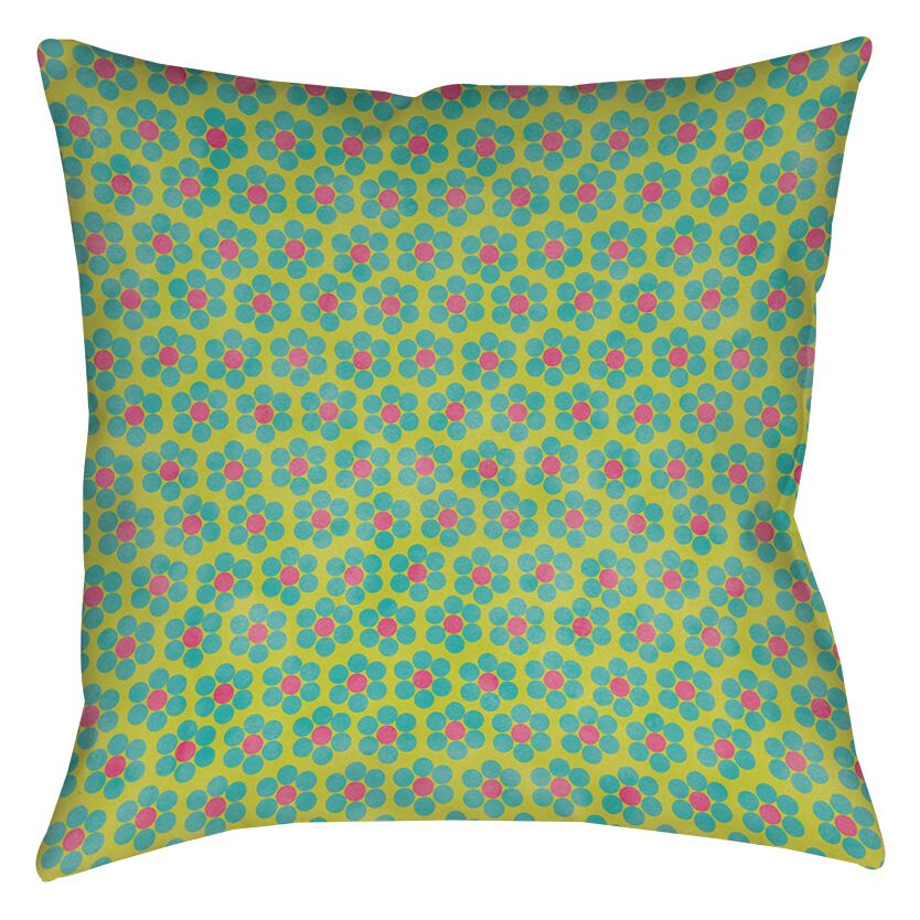 Emily's Ditsy Garden Printed Throw Pillow Size: 20