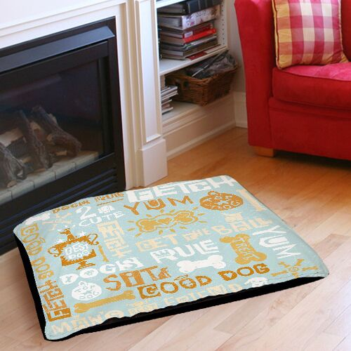 Dog Bark Indoor/Outdoor Pet Bed Size: 50