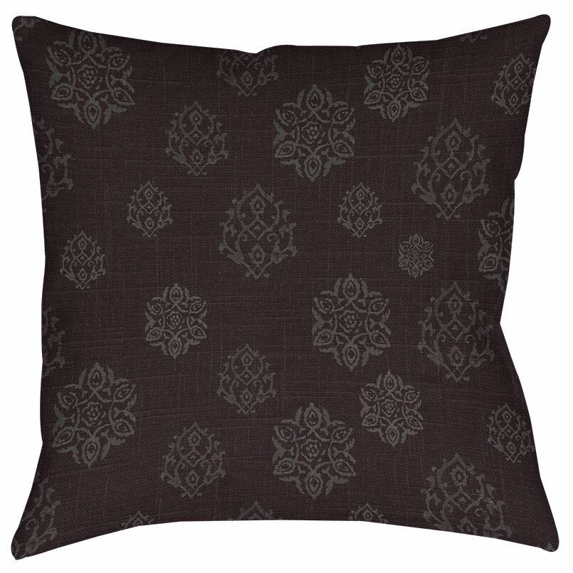 Flowing Medallion Printed Throw Pillow Size: 20