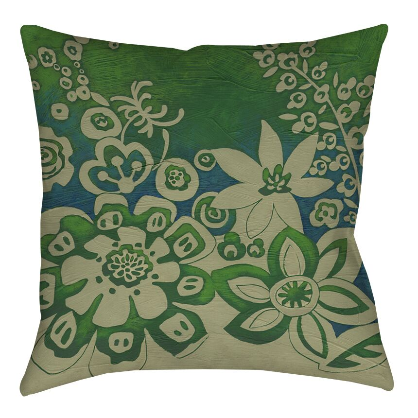 Kyoto Garden 2 Printed Throw Pillow Size: 16