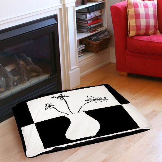 Minimalist Flower in Vase 4 Indoor/Outdoor Pet Bed Size: 40
