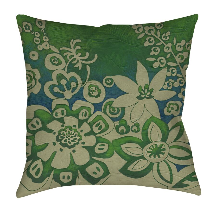 Kyoto Garden 2 Indoor/Outdoor Throw Pillow Size: 16