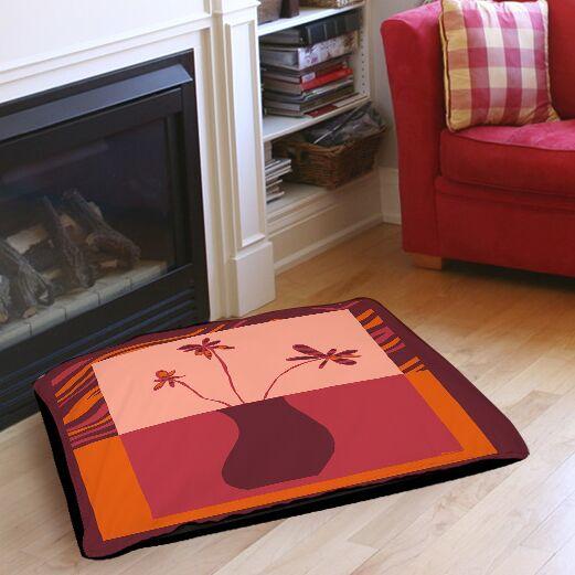 Minimalist Flowers 3 Indoor/Outdoor Pet Bed Size: 28