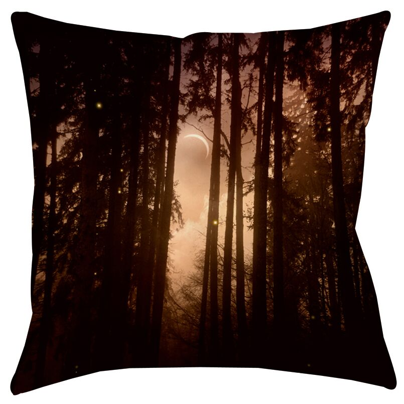 Forest Skyline Indoor/Outdoor Throw Pillow Size: 20