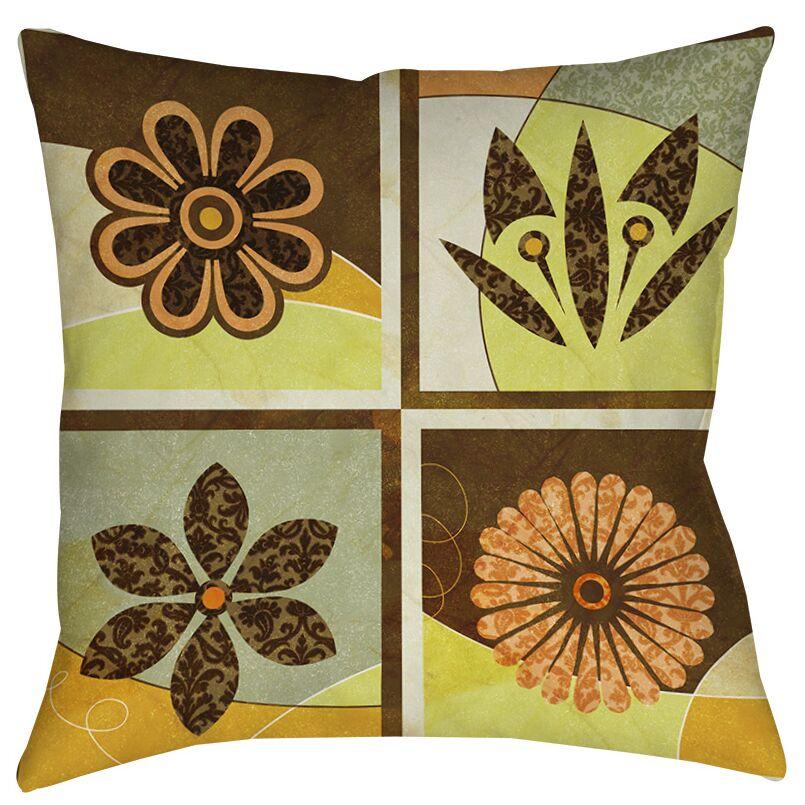 Graphic Garden Sydney Indoor/Outdoor Throw Pillow Size: 18
