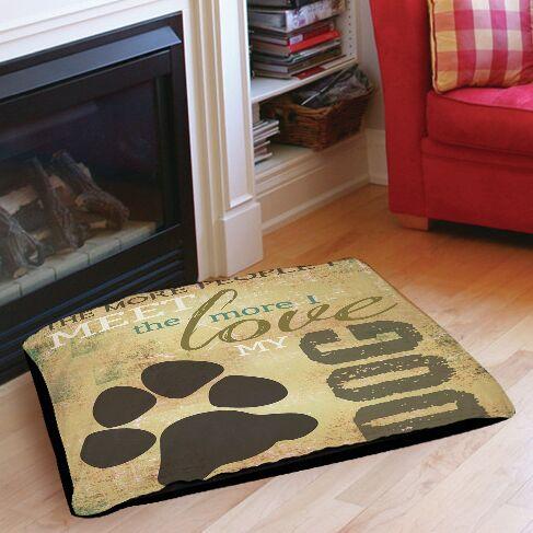 People vs Dog Indoor/Outdoor Pet Bed Size: 40