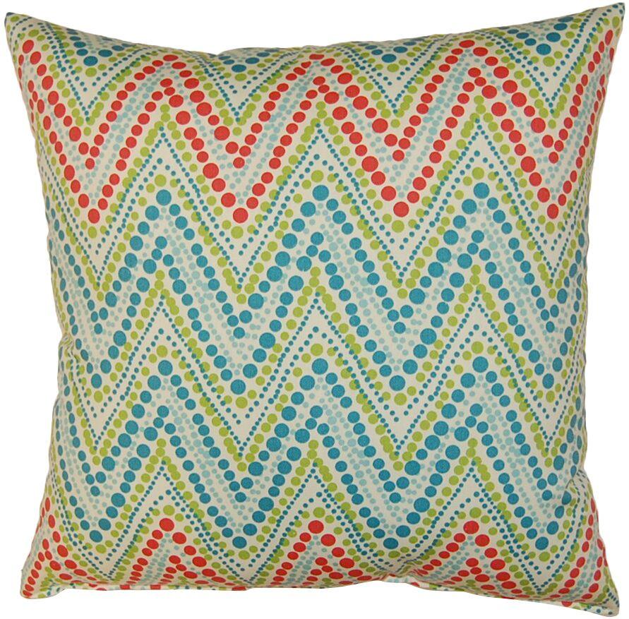 Trend Spotter Cotton Throw Pillow Color: Capri