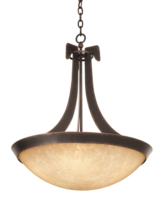 Copenhagen 5-Light Bowl Pendant Finish: Antique Copper, Shade Type: Ecru