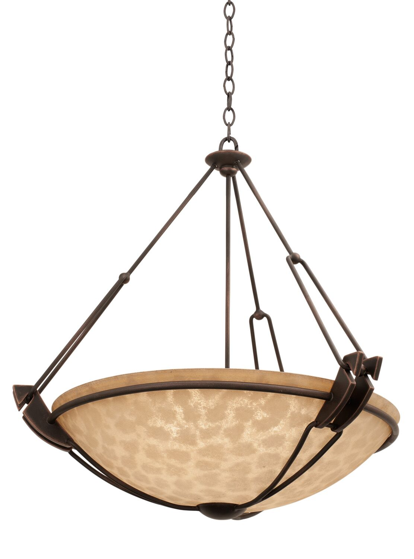 Grande 6-Light Bowl Pendant Shade Type: Art Nouveau Penshell, Finish: Antique Copper