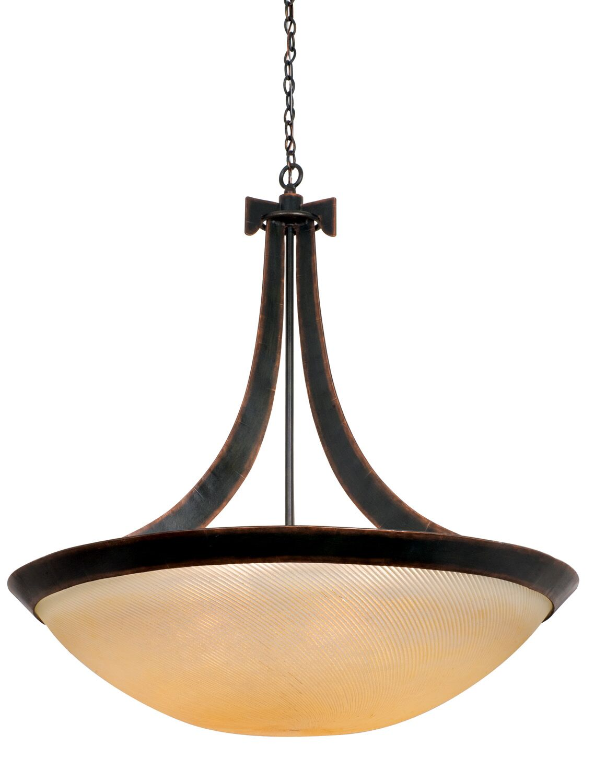 Copenhagen 6-Light Bowl Pendant Finish: Antique Copper, Shade Type: Smoked Taupe