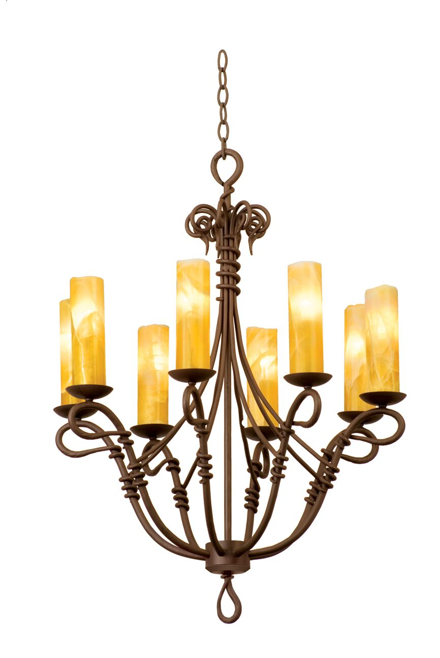 Vine 8-Light We have associated to option Chandelier Shade Type: Champagne Mica