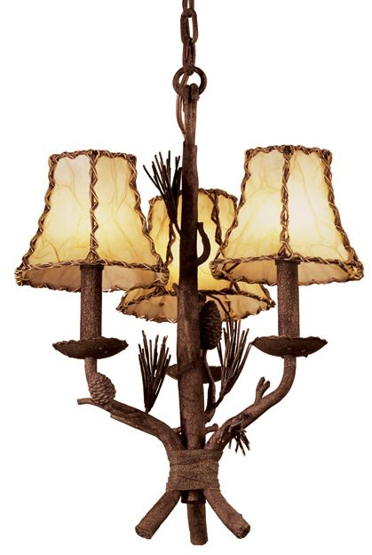 Ponderosa 3-Light Shaded Chandelier