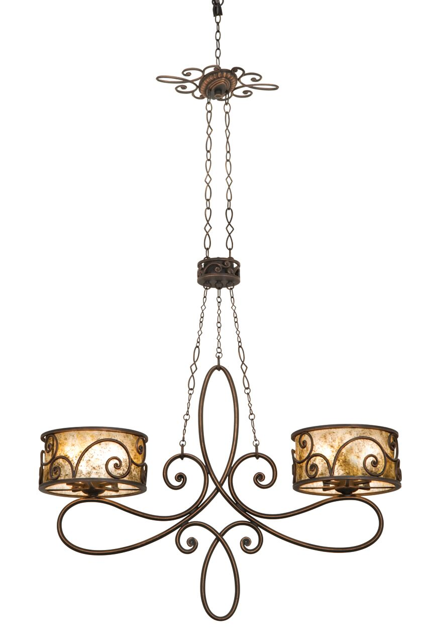 Windsor 10-Light Shaded Chandelier Finish: Aged Silver, Shade: Shade, Silver Mica