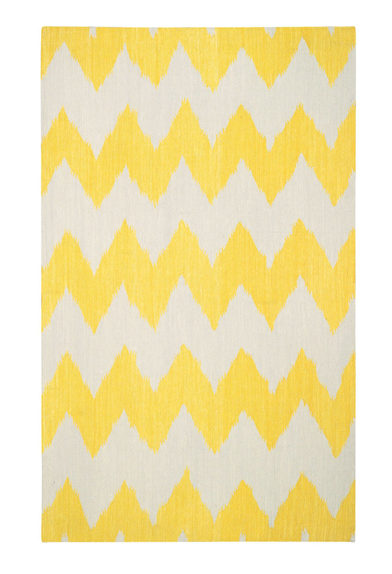 Insignia Leo Sun Yellow/Cream Area Rug Rug Size: Rectangle 8' x 11'