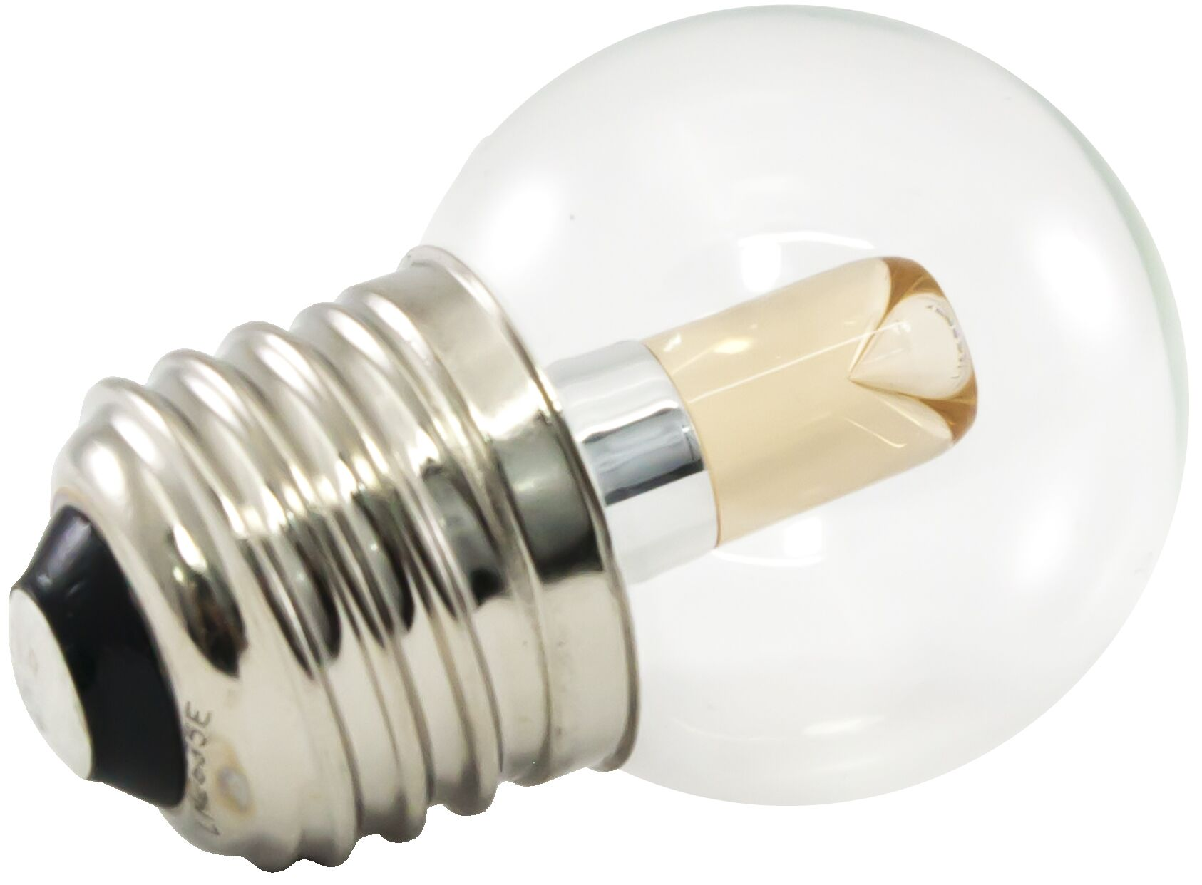 E26/Medium LED Light Bulb Wattage: 1.2W, Bulb Temperature: 1900K