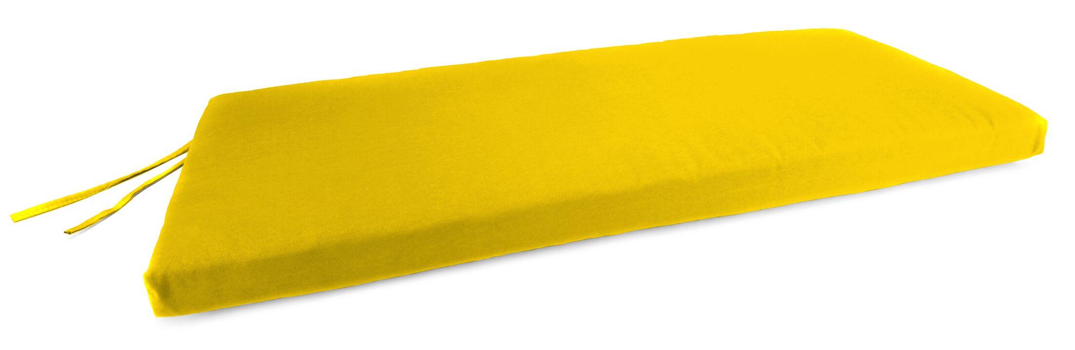Indoor/Outdoor Bench Cushion Fabric: Veranda Lemon
