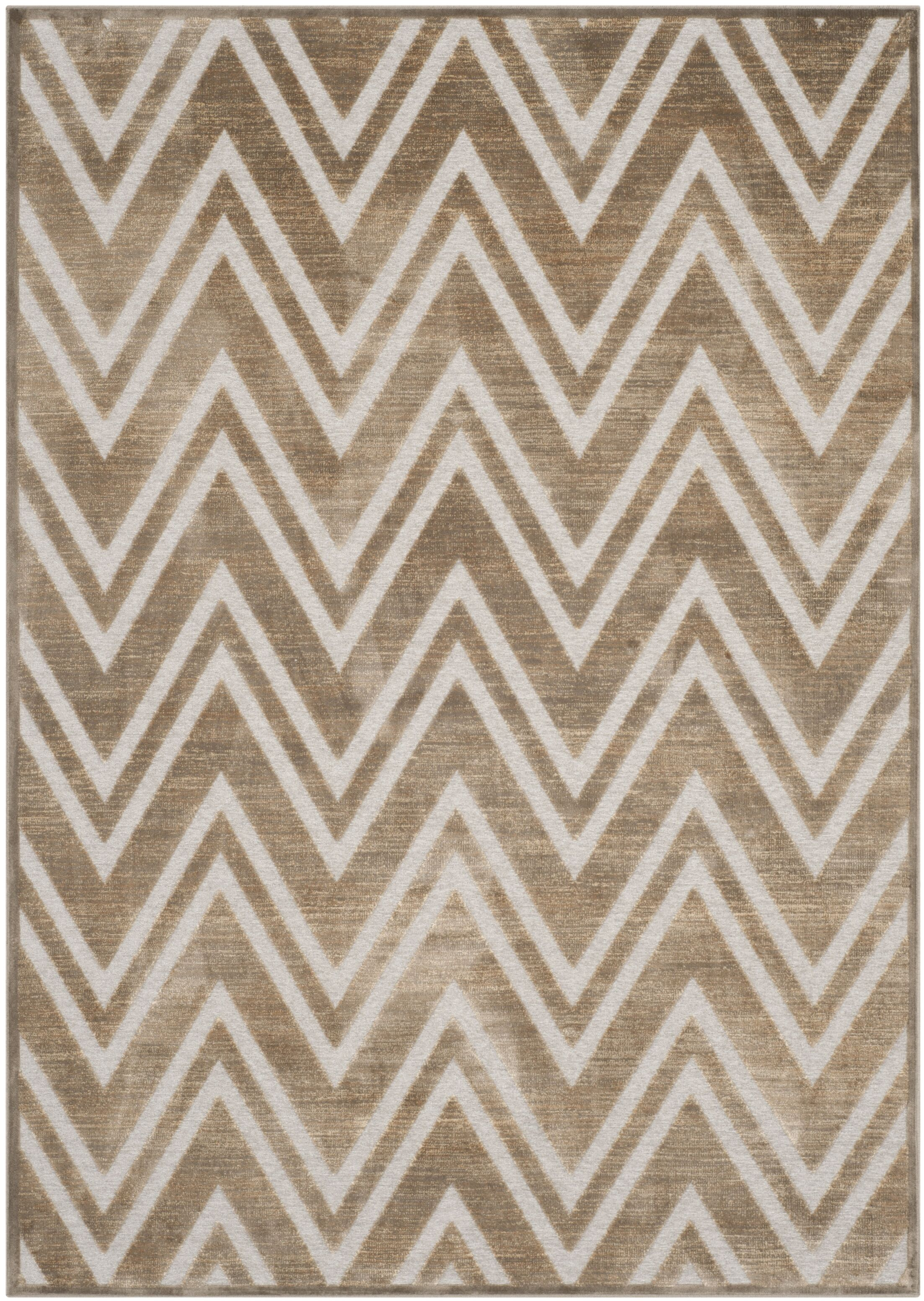Gabbro Brown/Ivory Area Rug Rug Size: Rectangle 4' x 5'7