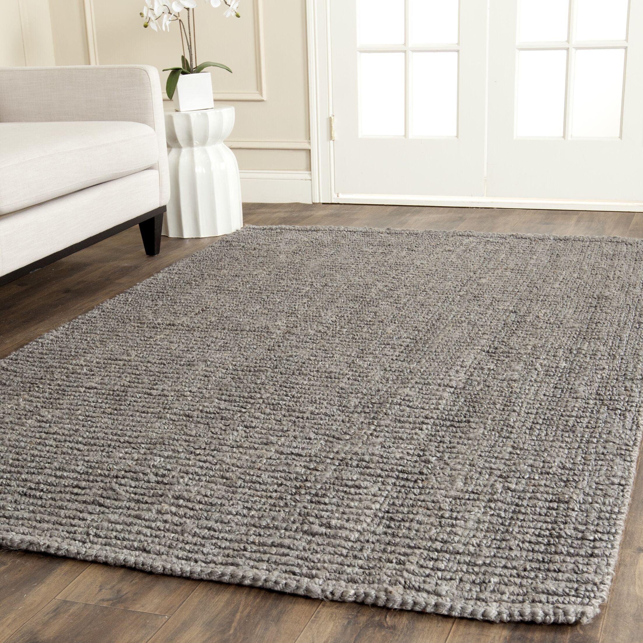 Greene Hand-Woven Gray Indoor Area Rug Rug Size: Rectangle 10' x 14'