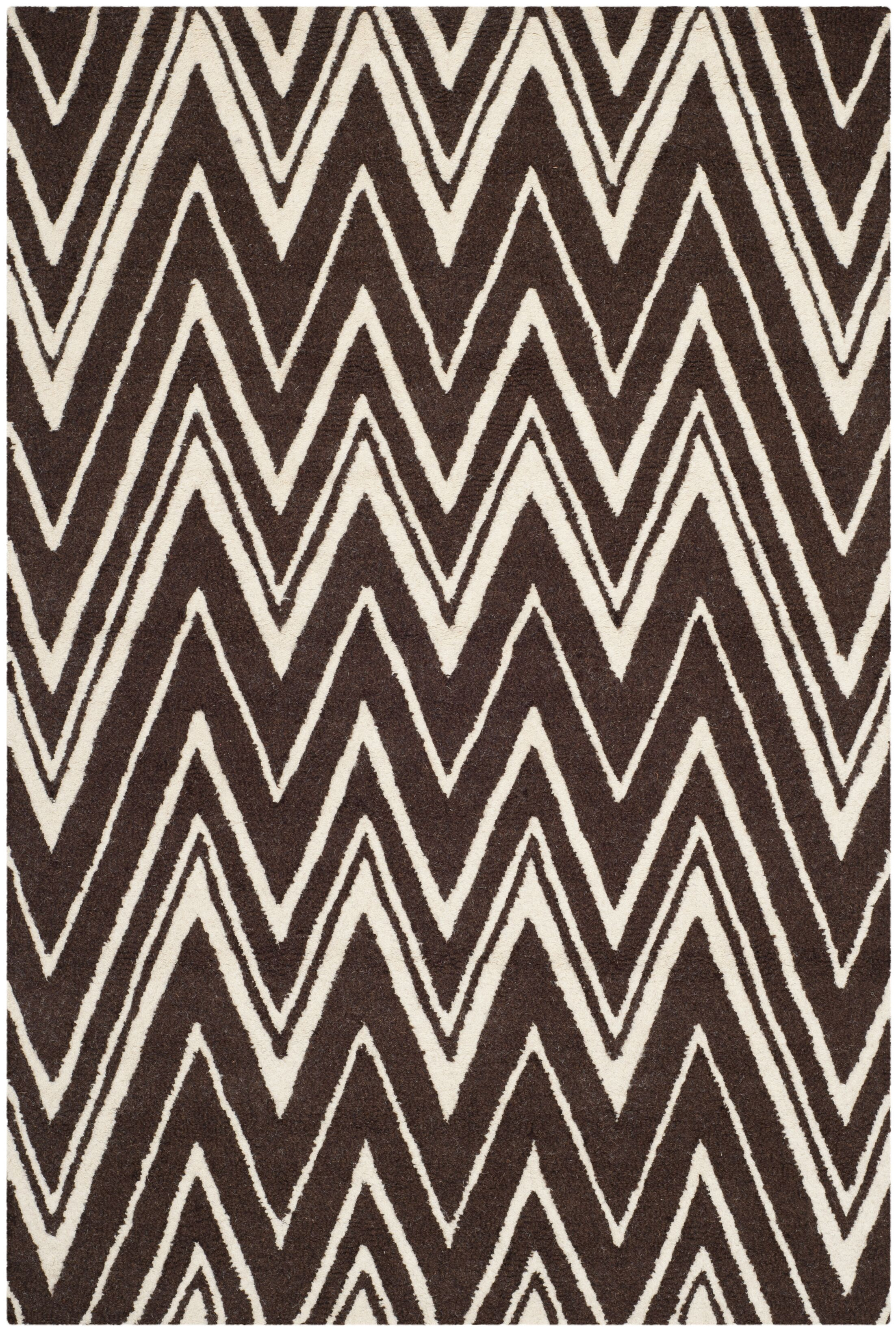 Martins Hand-Tufted Brown Area Rug Rug Size: Rectangle 4' x 6'