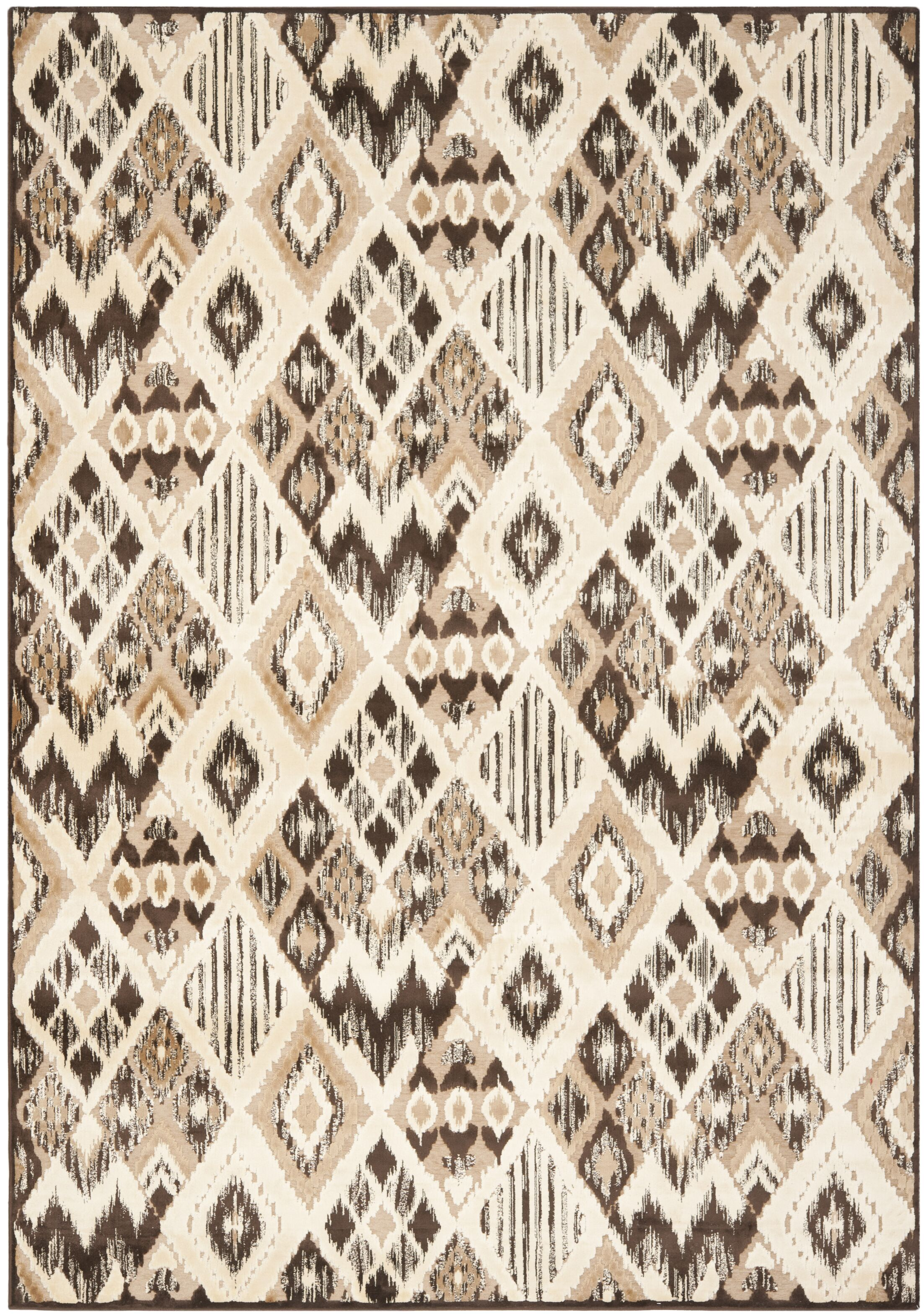 Thom Felica Brown/Taupe Area Rug Rug Size: Rectangle 8' x 11'2