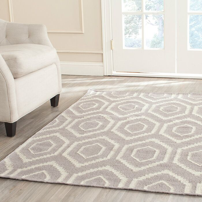 Cassiopeia Hand-Woven Gray/Ivory Area Rug Rug Size: Rectangle 10' x 14'