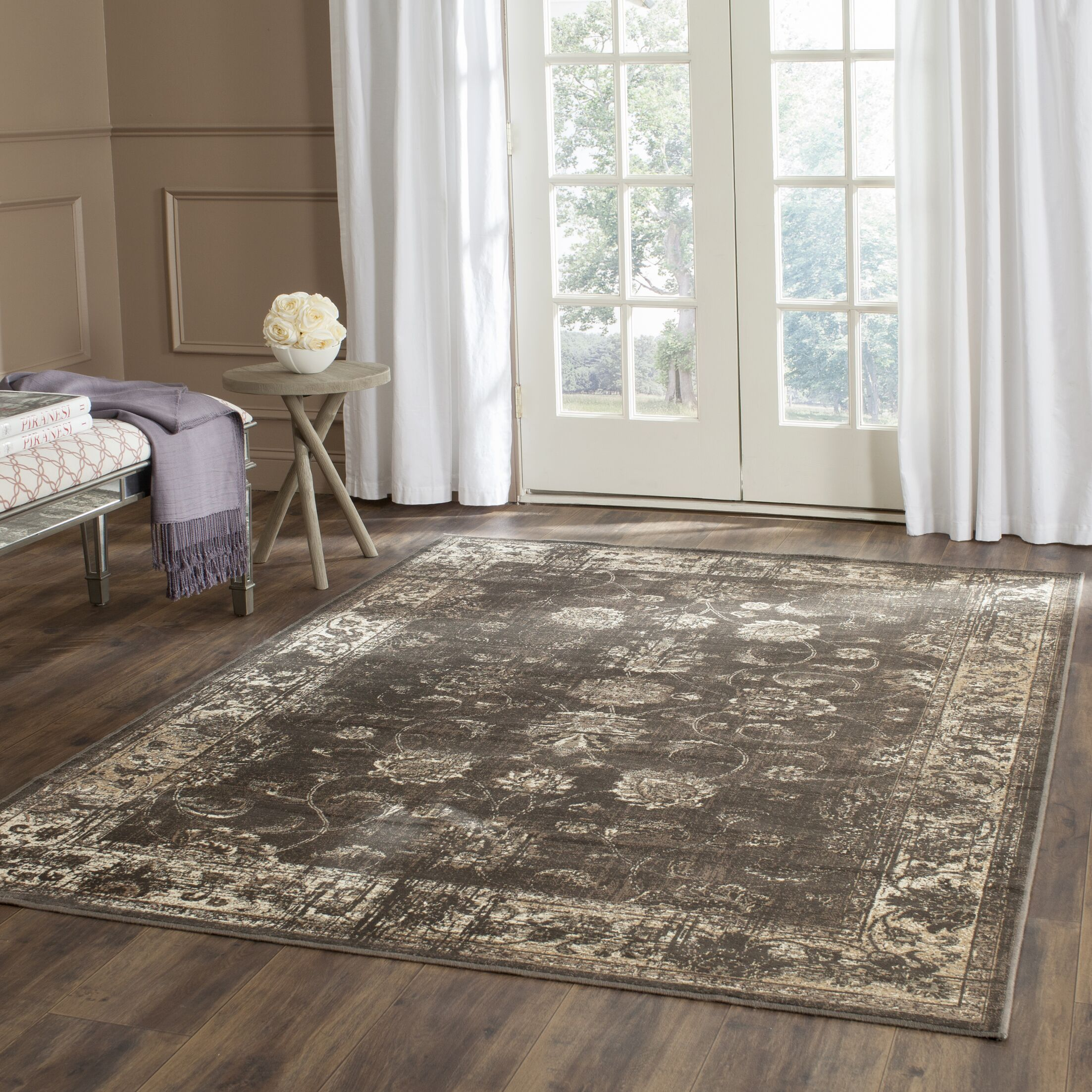 Crittenden Soft Anthracite Area Rug Rug Size: Rectangle 3'3