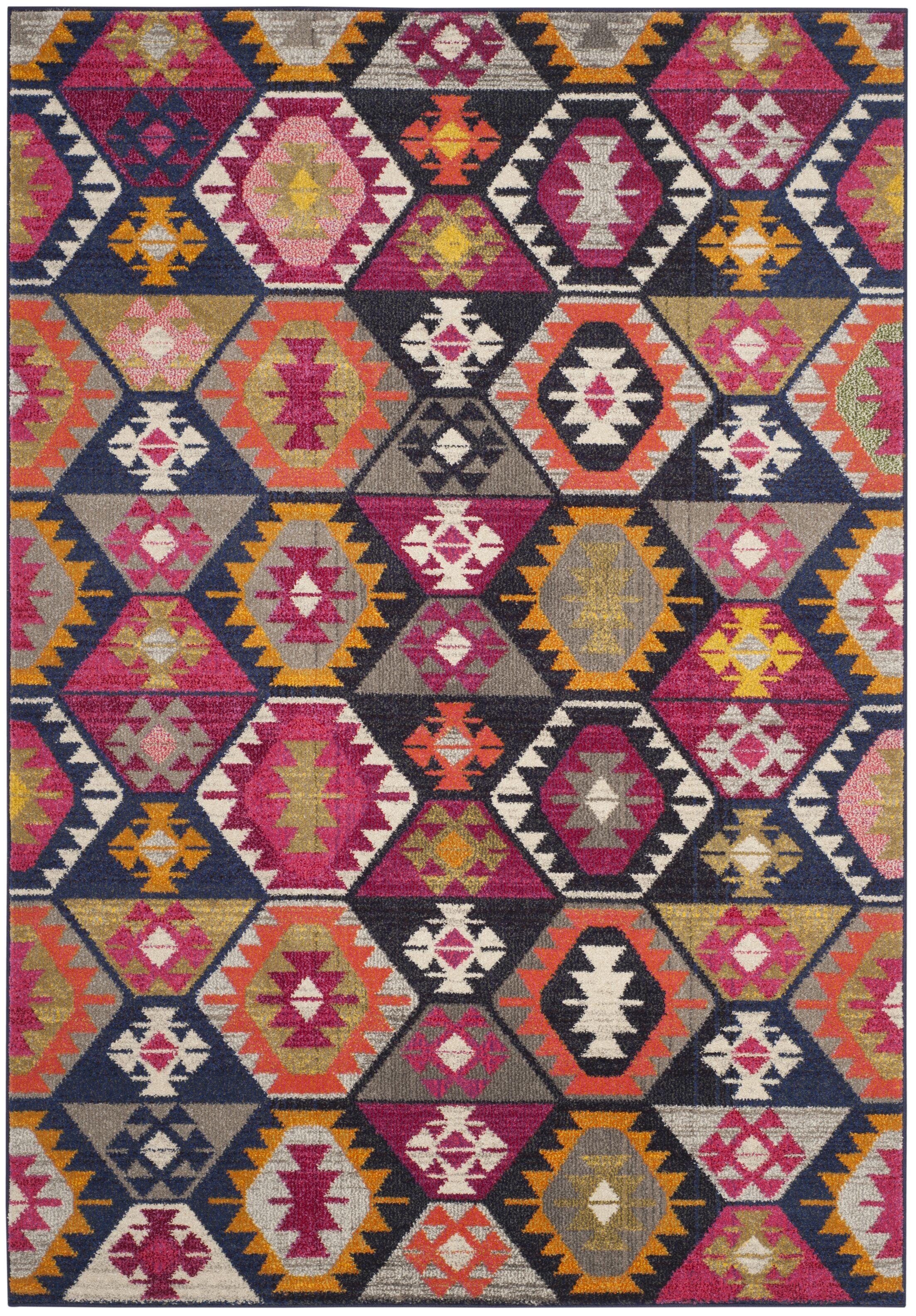 Yemina Yellow/Pink Area Rug Rug Size: Rectangle 4' x 5'7