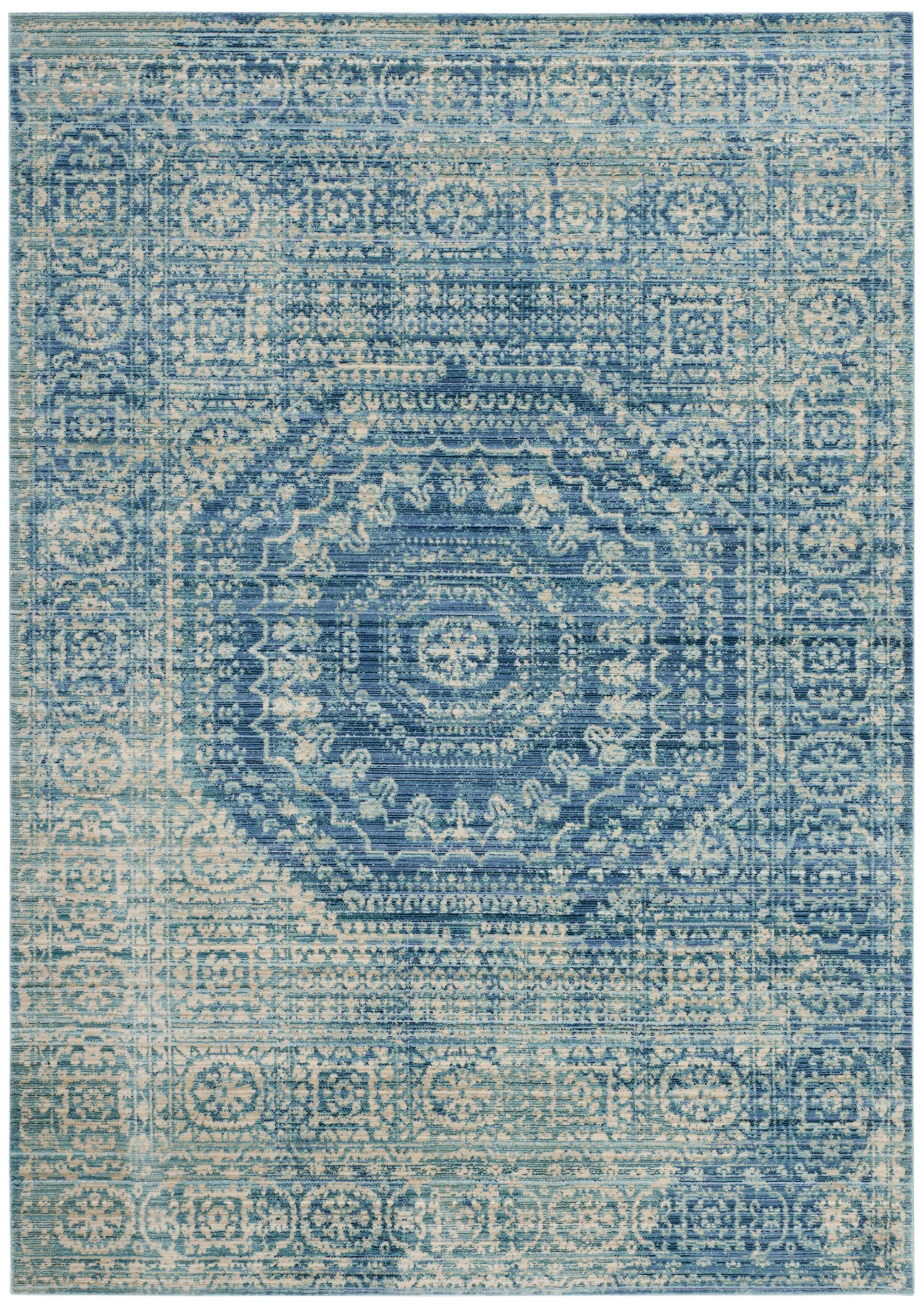 Doline Blue Area Rug Rug Size: Rectangle 5' x 8'
