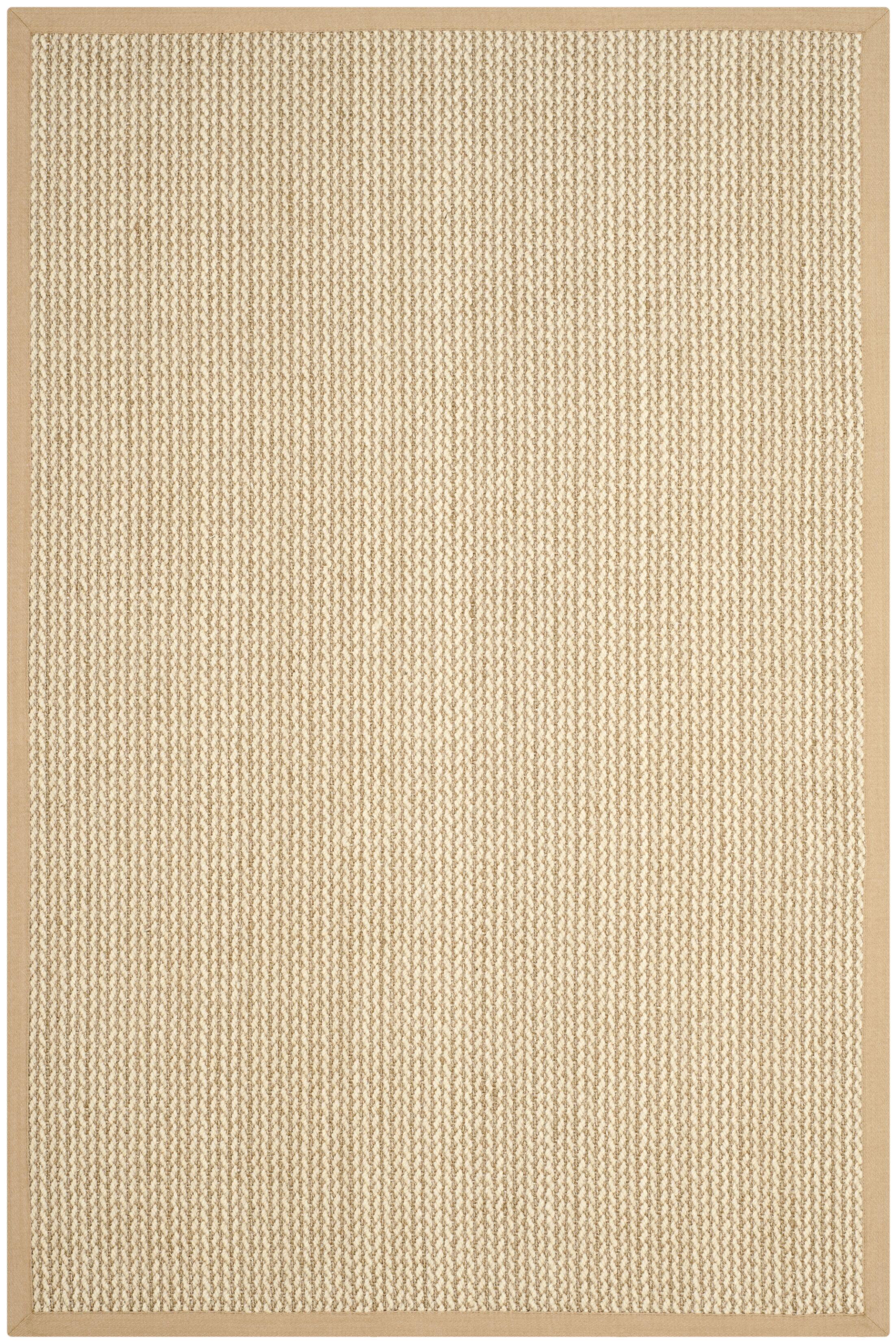 Hand-Woven Beige Area Rug Rug Size: Rectangle 9' x 12'