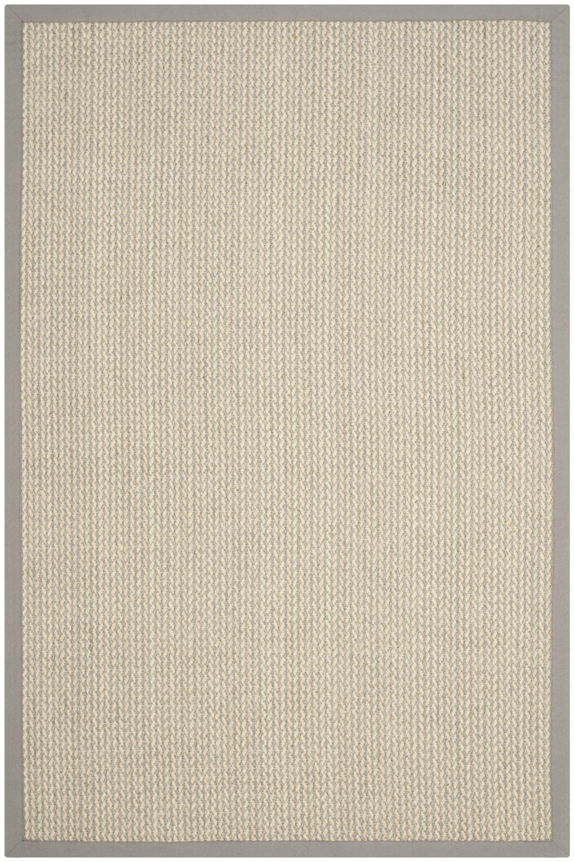 Hand-Woven Gray Area Rug Rug Size: Rectangle 5' x 8'