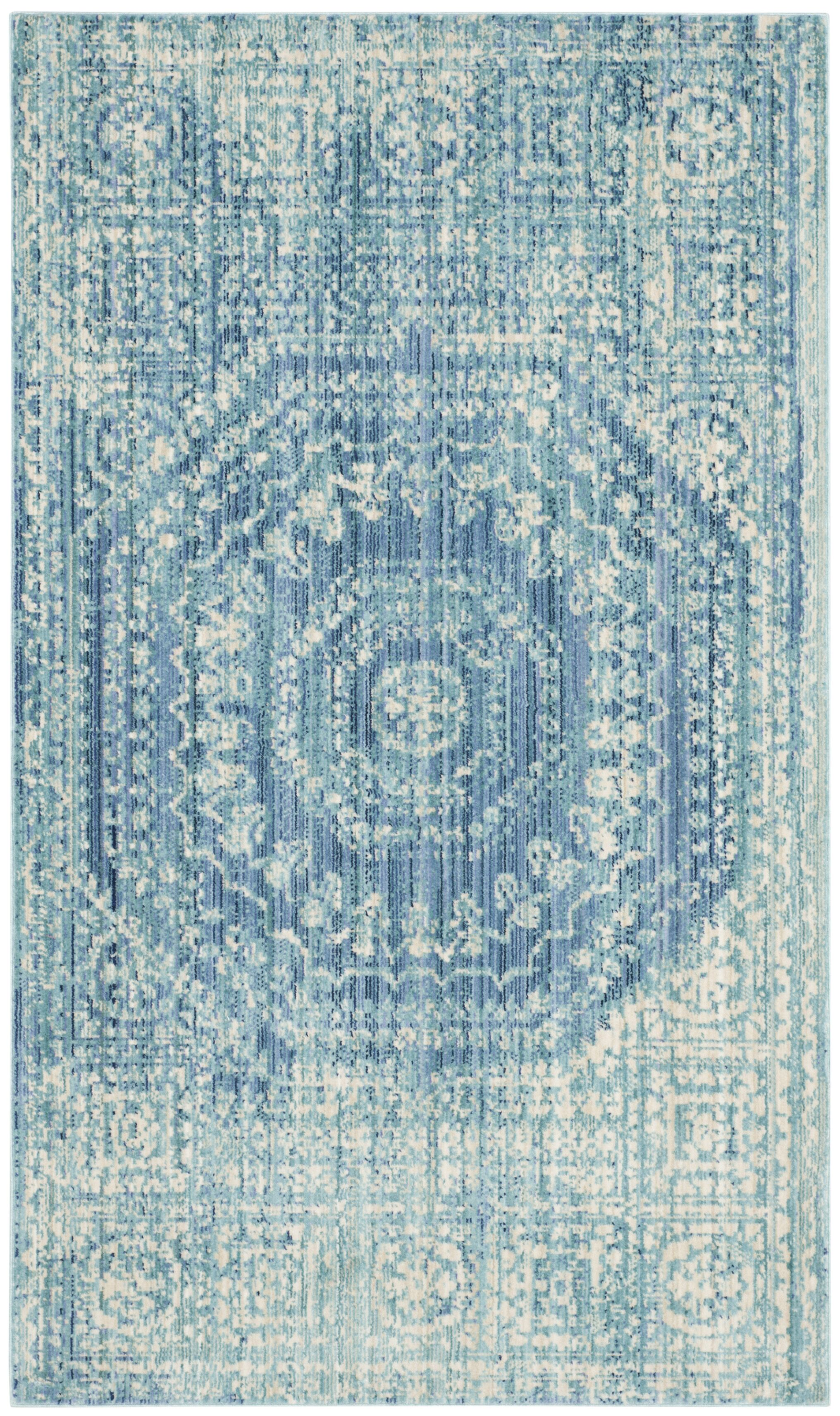 Doline Blue Area Rug Rug Size: Rectangle 4' x 6'