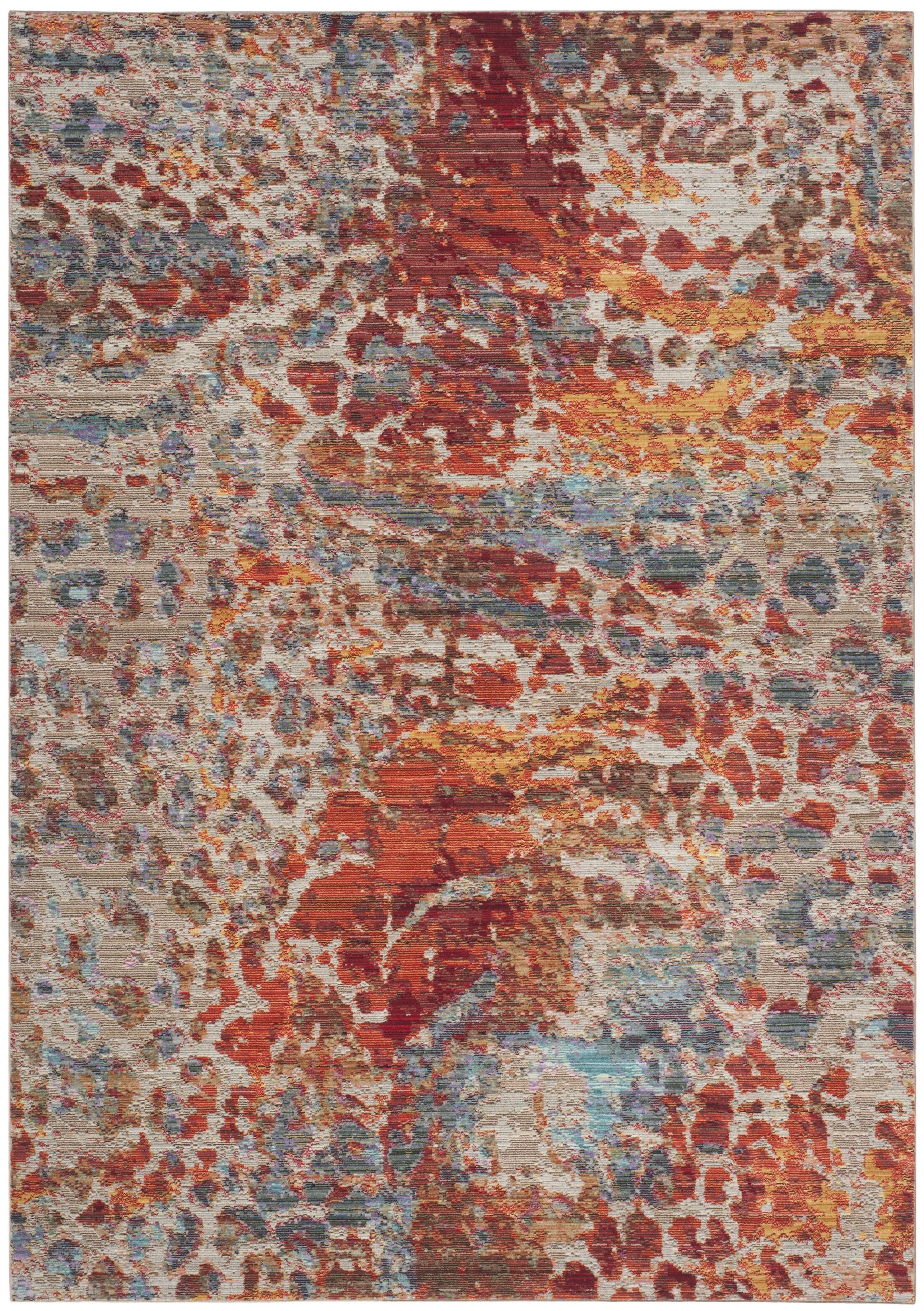 Abdoulaye Brown/Blue Area Rug Rug Size: Rectangle 9' x 12'