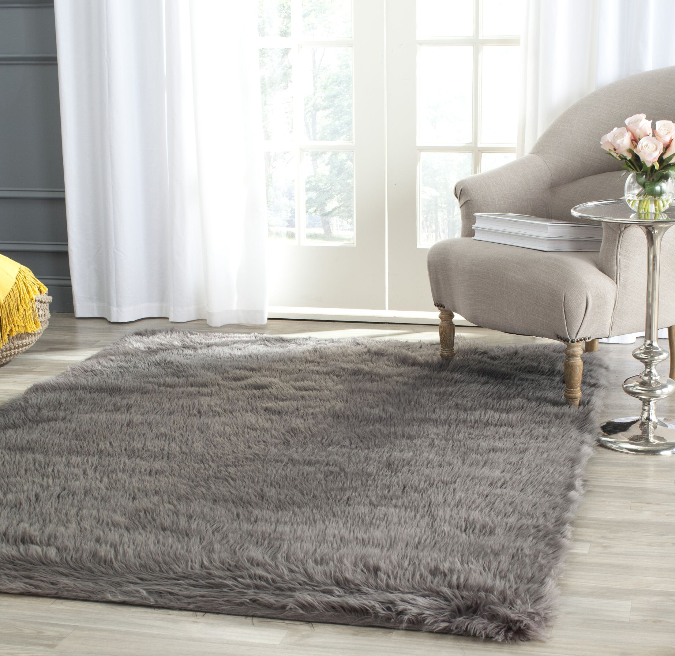 Nichols Hand-Tufted Gray Area Rug Rug Size: Rectangle 5' x 7'