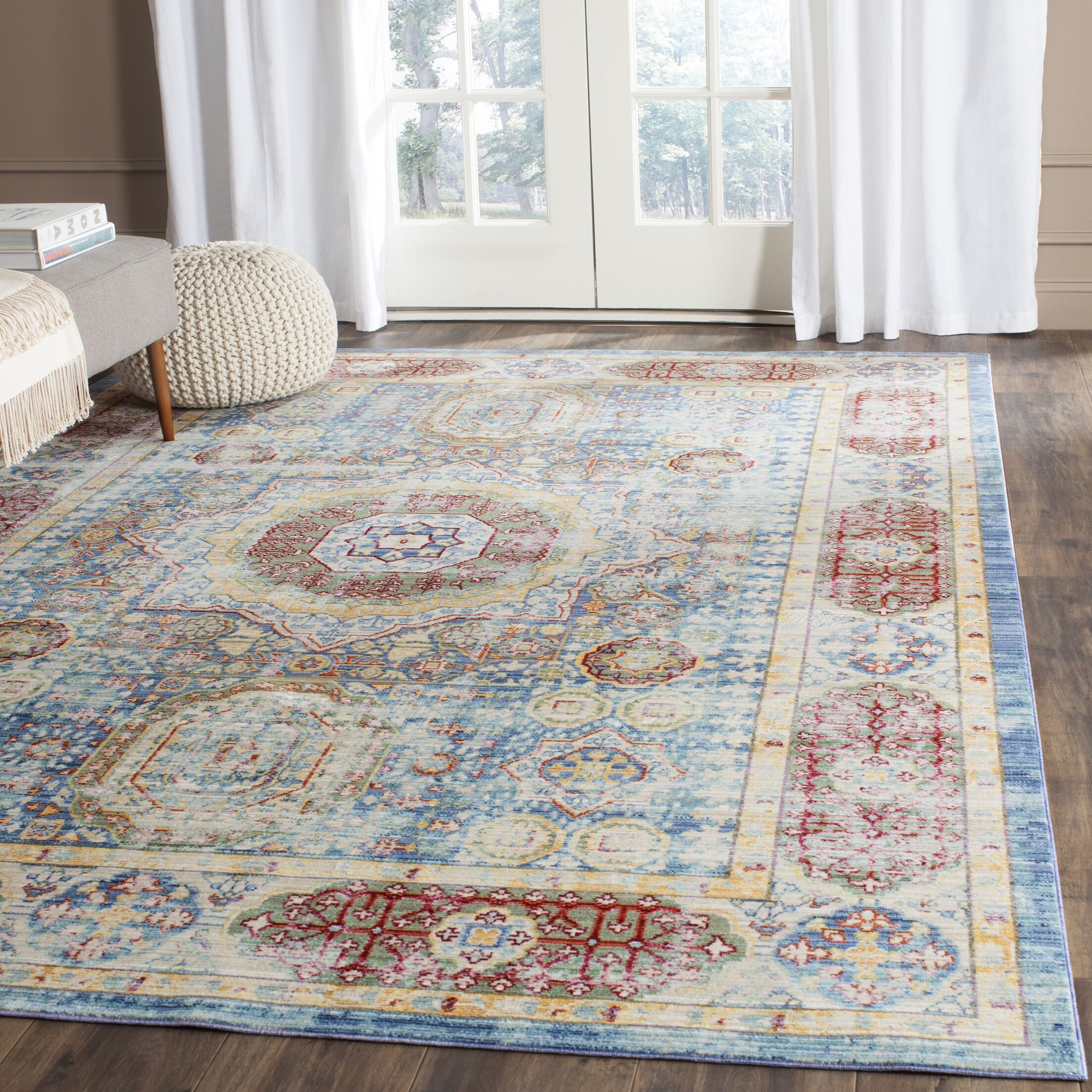 Doline Oriental Area Rug Rug Size: Rectangle 3' x 5'
