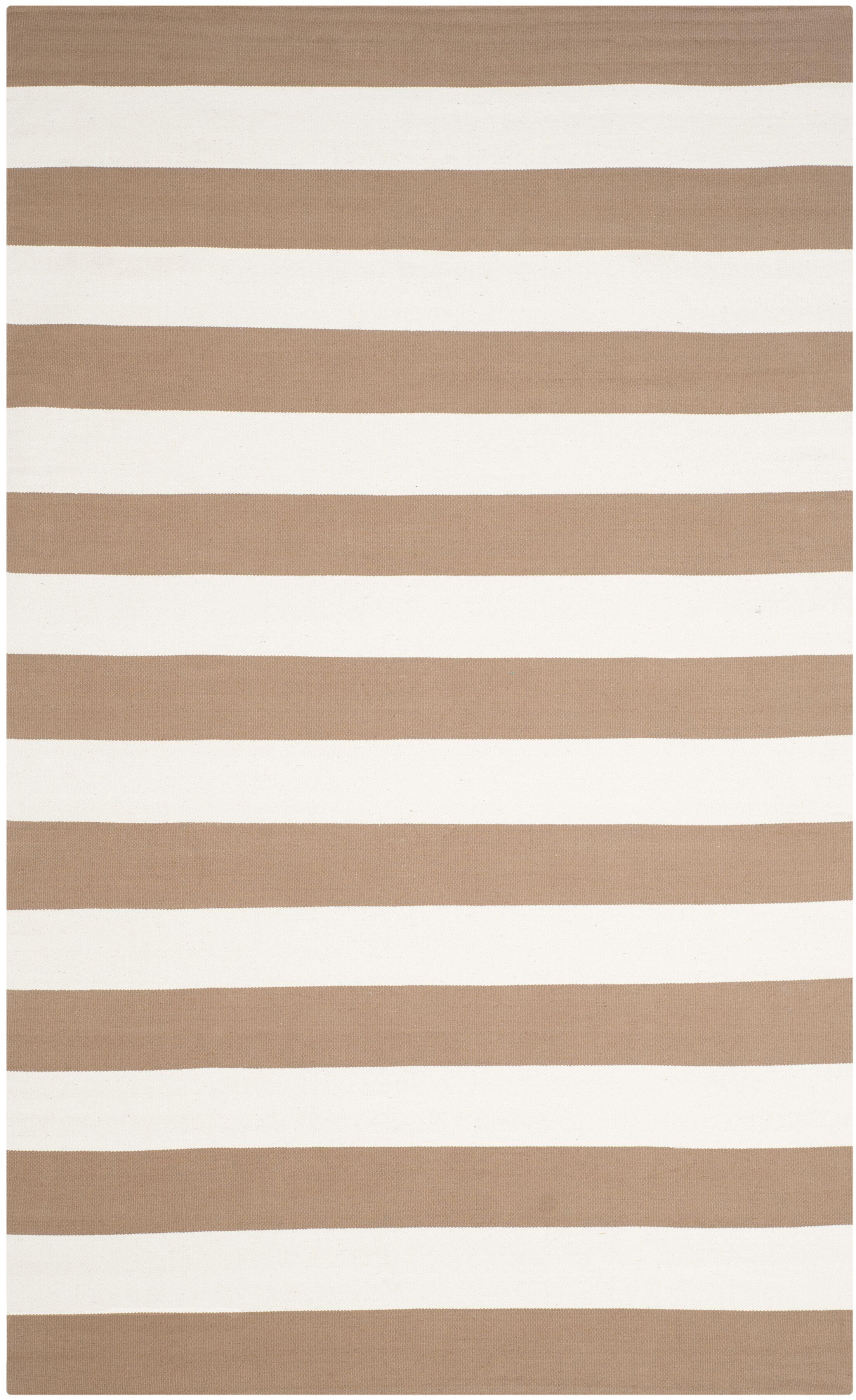Sky Hand-Woven Sand/Ivory Area Rug Rug Size: Rectangle 9' x 12'