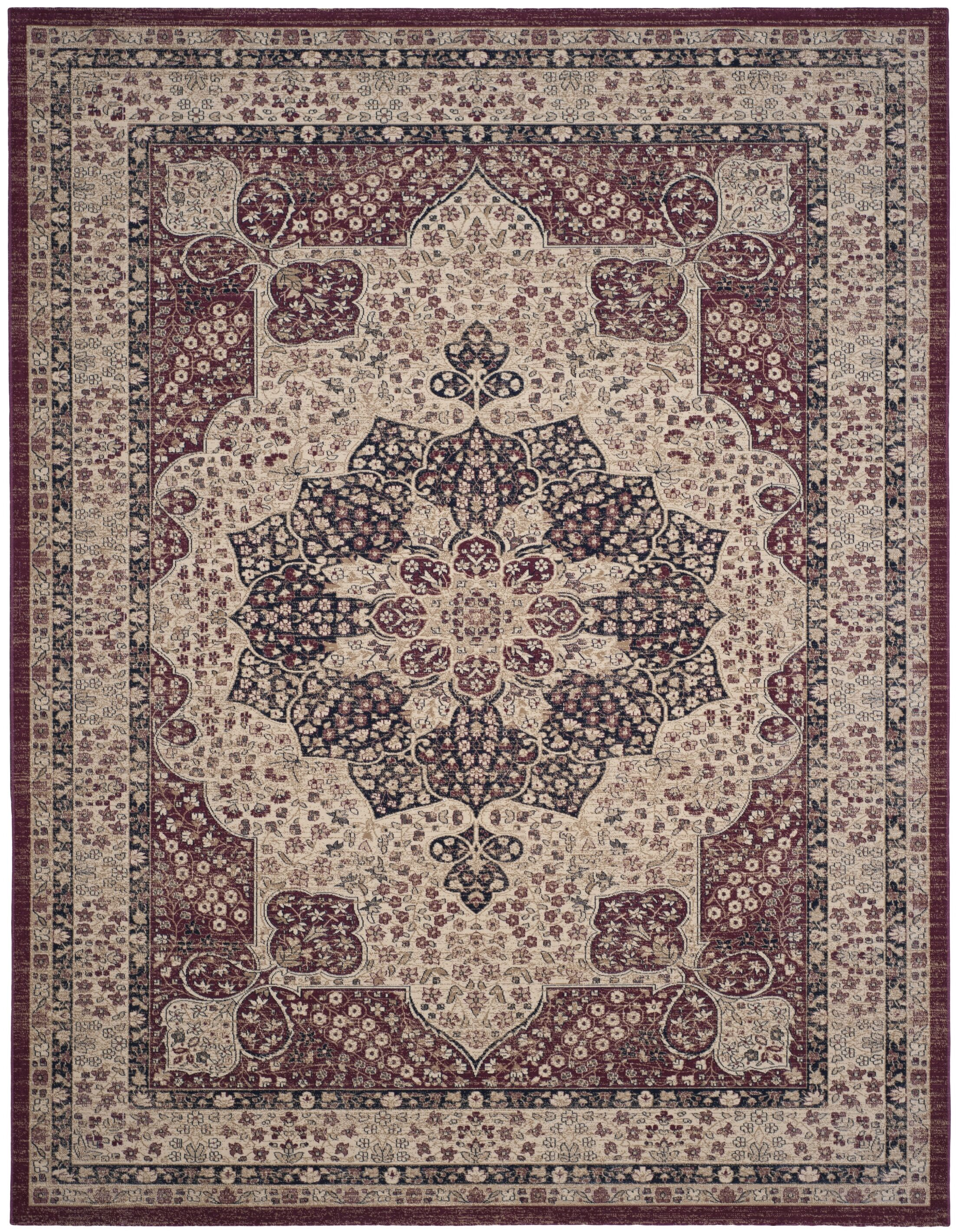 Marion Creme/Red Area Rug Rug Size: Rectangle 8' x 10'