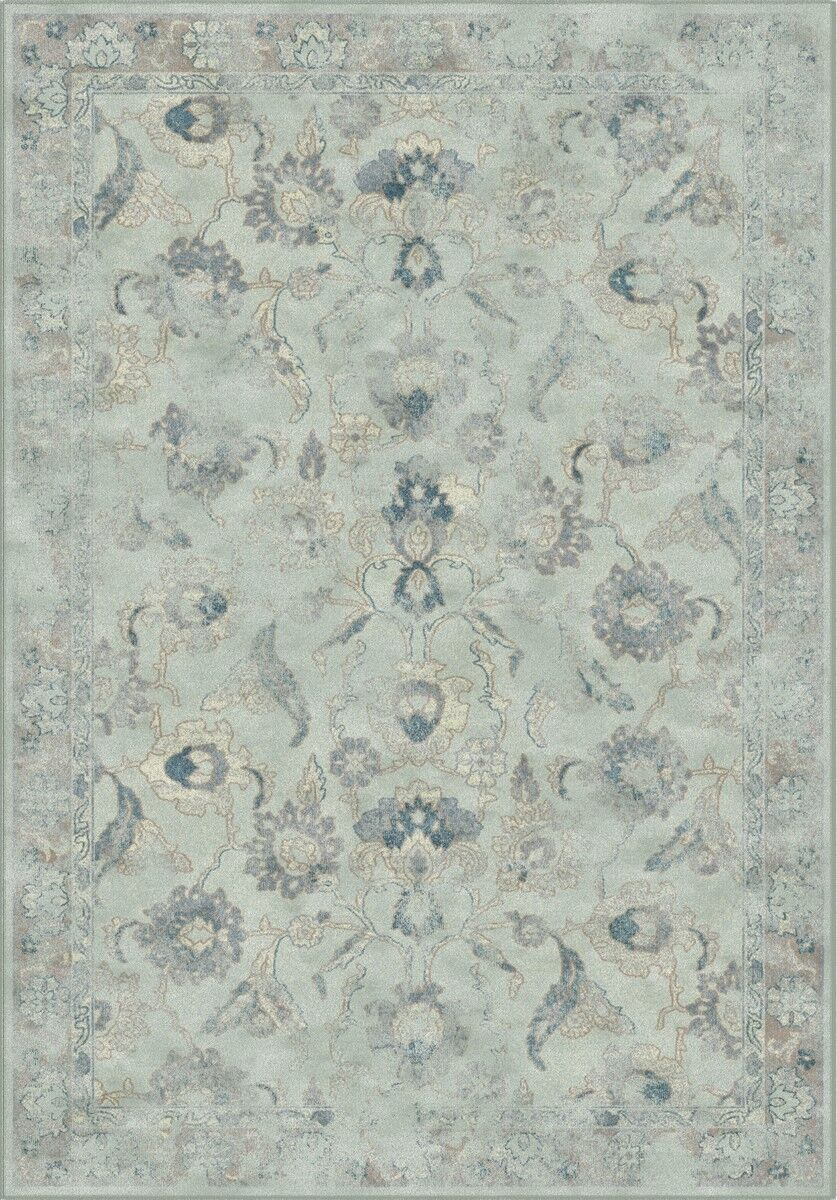 Crestshire Light Blue/Light Gray Area Rug Rug Size: Rectangle 3'3